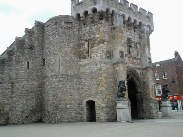 Southampton Bargate which Jane would have known - image via Flickr by Kevin Ryder