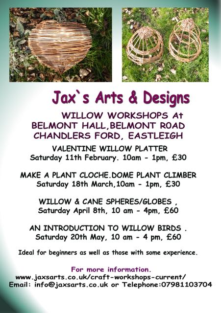 JaxsArts & Designs: Willow Workshops