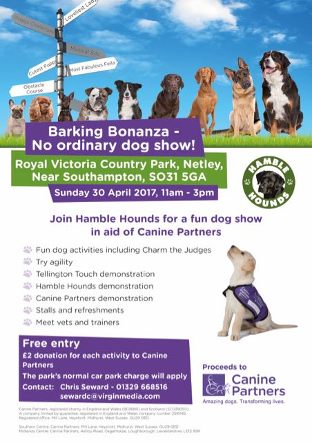 Barking Bonanza Sunday 30th April
