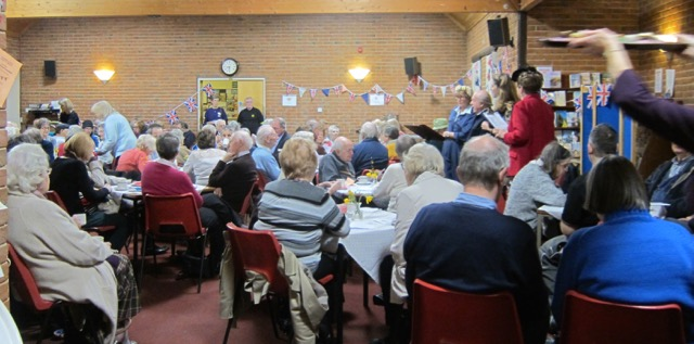 Chandler's Ford audience enjoyed a sing-along of wartime songs.