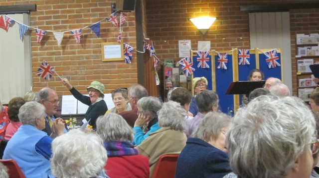 Dovetail Singers entertaining audience during the interval.
