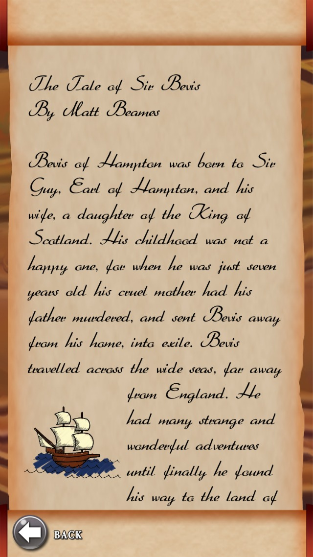 EXTRACT FROM SIR BEVIS'S TALES