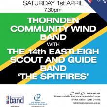 Thornden CommunityWind Band with the 14th Eastleigh Scout and Guide Band - the Spitfire, 1st April 2017.