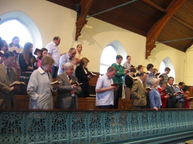 Hymn singing in Wales