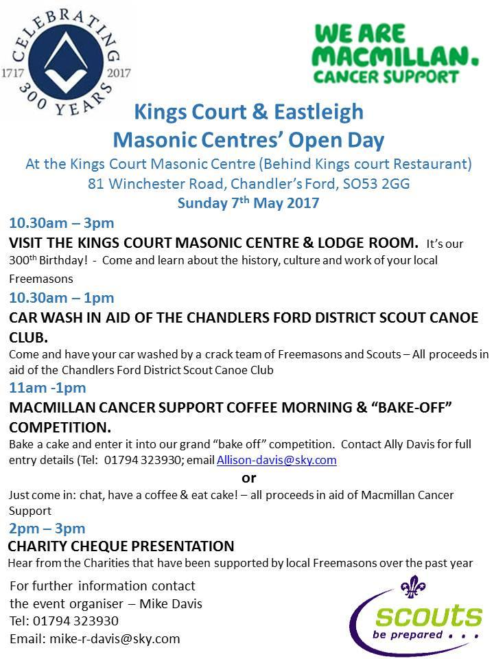 Kings Court and Eastleigh Masonic Centre May 2017