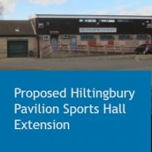 Proposed Hiltingbury Pavilion Sports Hall Extension