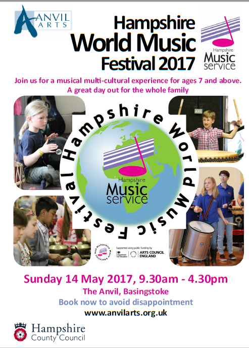 hampshire world festival poster