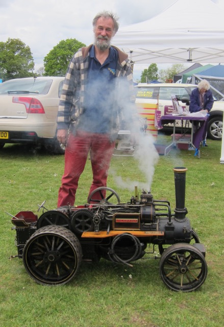 John with his traction engine (it used to be placed in his kitchen!)