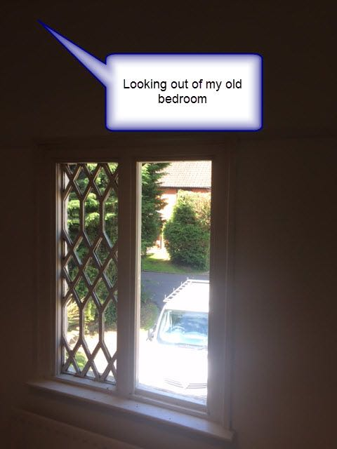 Looking out of my Old bedroom at Hiltonbury Farmhouse