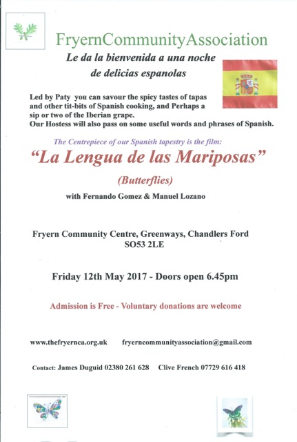 Mariposas Fryern Community Association Chandler's Ford 2017