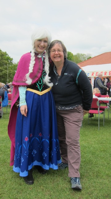 Princess Anna of Arendelle and mum (Jane) at Fryern Funtasia 2017.