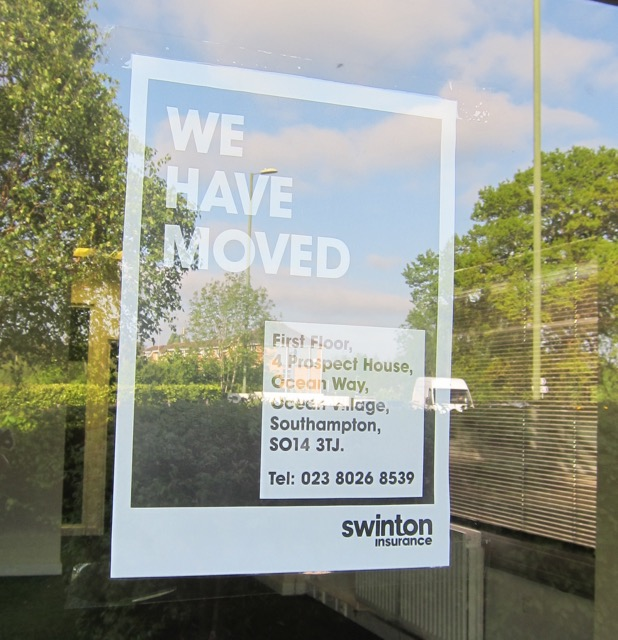 Swinton Insurance Chandler's Ford has moved.