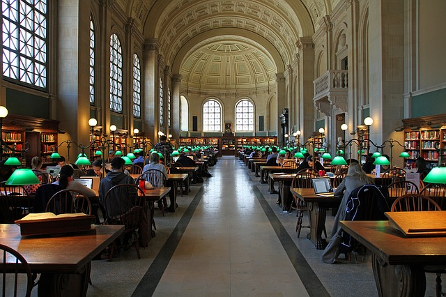 The public reading room in Boston - image via Pixabay