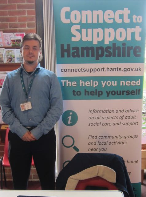 Andrew promoting Connect to Support Hampshire website.