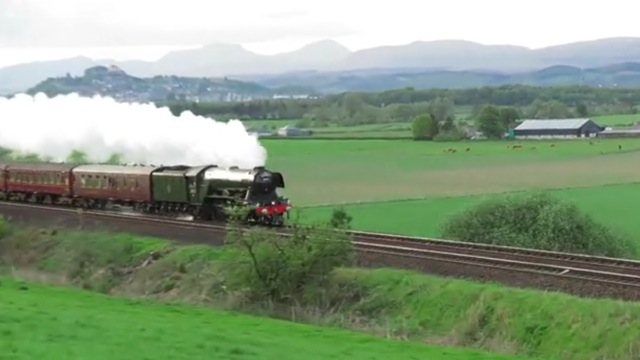 Flying Scotsman in Stirling, Scotland.