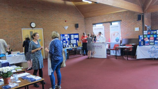 Many visitors attended the information day.