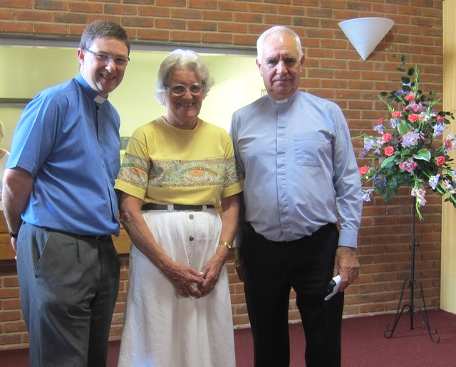Jane Archer, Rev. Peter Cornick (left), and Rev. Bryan Coates.