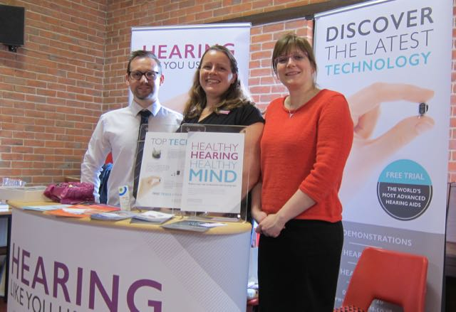 Leightons opticians and hearing care: Rebecca Fouch (optometrist), Billy Walder (optician), and Anne-Marie Kincaid (hearing aid dispenser).