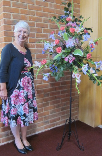 Pat has arranged beautiful flowers for the Coffee Room for over 30 years.