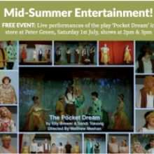 Peter Green: Mid-Summer Entertainment on Saturday 1st July