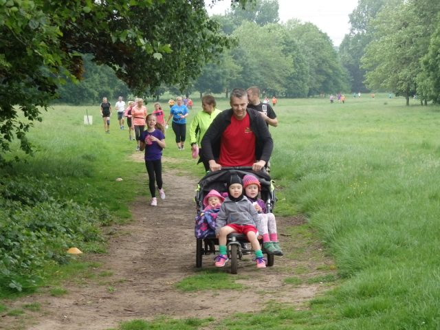 parkrun with buggy