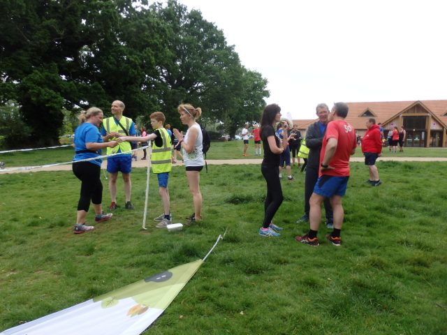 parkrun finish line