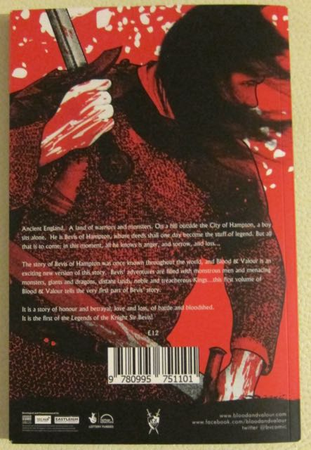 Blood and Valour back cover