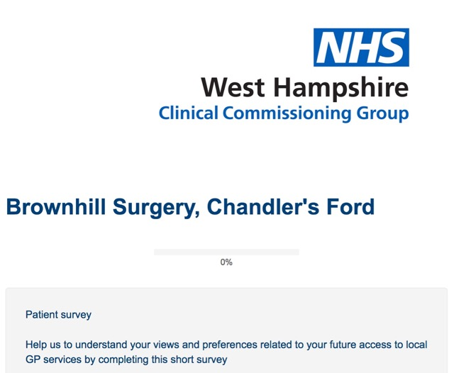 Brownhill Surgery Patient survey 2017
