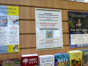 Poster up at Chandler's Ford Library - image by Allison Symes
