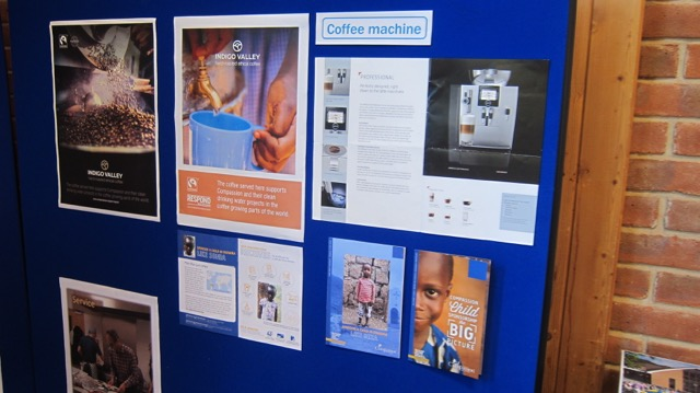 The new coffee machine will be used when the Dovetail Centre re-opens.