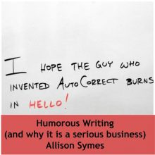 Humorous Writing (and why it is a serious business)
