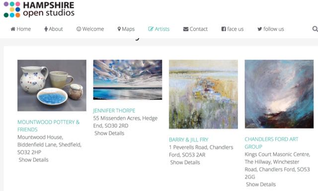 Hampshire Open Studios - artists from Chandler's Ford.