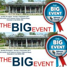 Velmore Centre: The Big Event – 20th August to 3 September 2017
