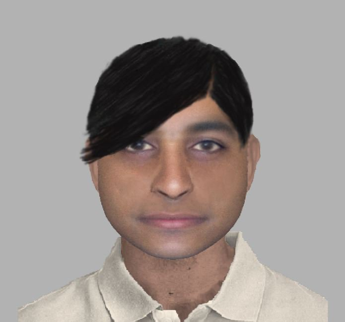 E-fit image released by the police relating to Chandler's Ford: jewellery s tolen.