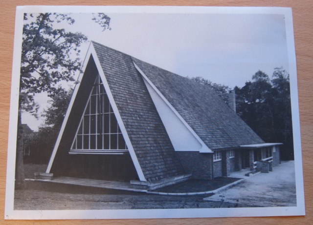Distinct feature of the church building. Archive: Chandler's Ford Methodist Church, 1992-1993 Dovetail Project