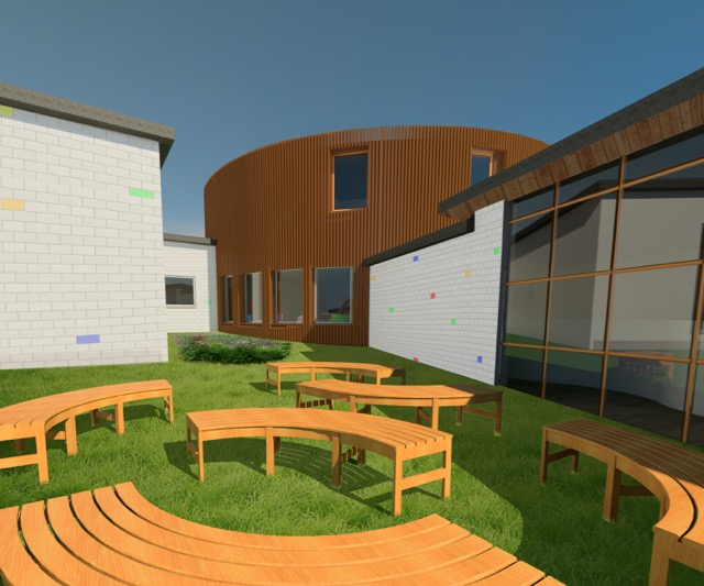 Outdoor teaching area - April Rapley's redesign of Chandler's Ford Infant School.