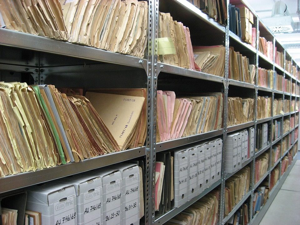 Research files - image via Pixabay