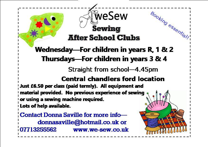 We Sew: after school sewing club