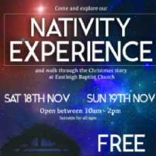 The Nativity Experience, 18th and 19th November