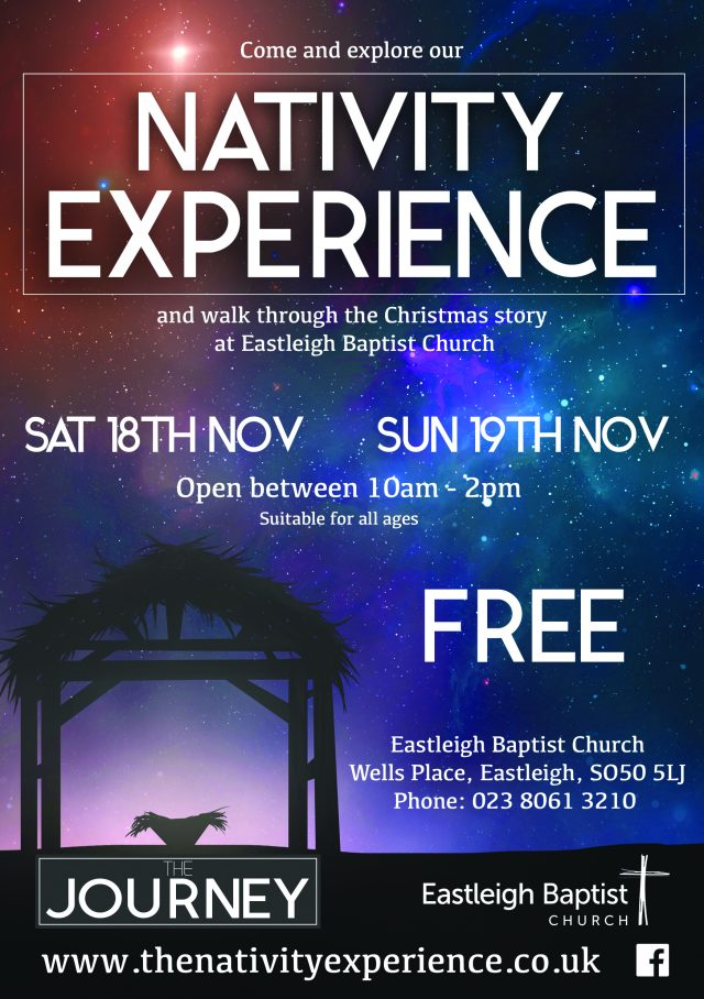 The Nativity Experience, Eastleigh Baptist Church, 18 and 19 November