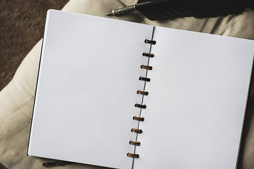 A blank page can take you anywhere writing wise, image via Pixabay