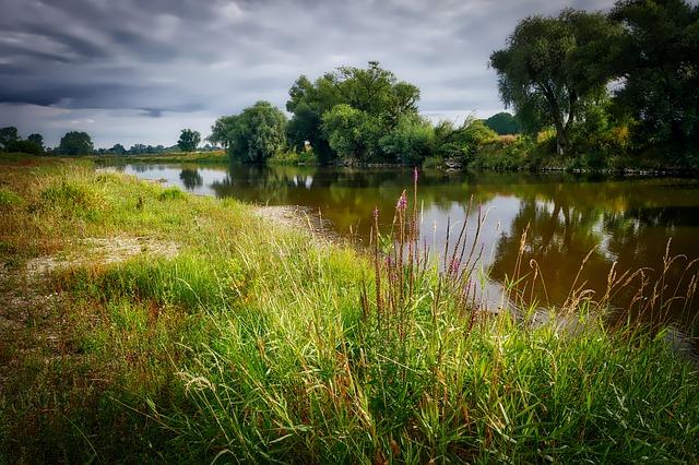 An idyllic river bank - image via Pixabay