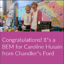 Congratulations! It's a BEM for Caroline Husain from Chandler's Ford