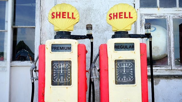 Old style Shell Petrol Pumps - image via Pixabay