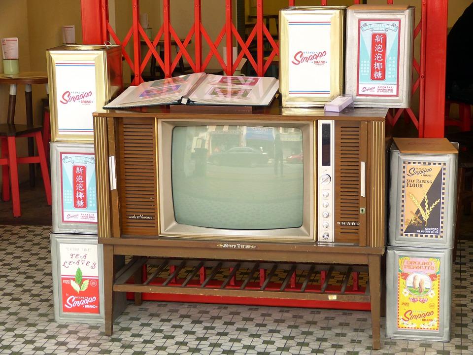 Old television. Image via Pixabay