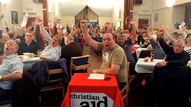 QuizAid participants in Chandler's Ford: Quiz doubles money for Christian Aid.