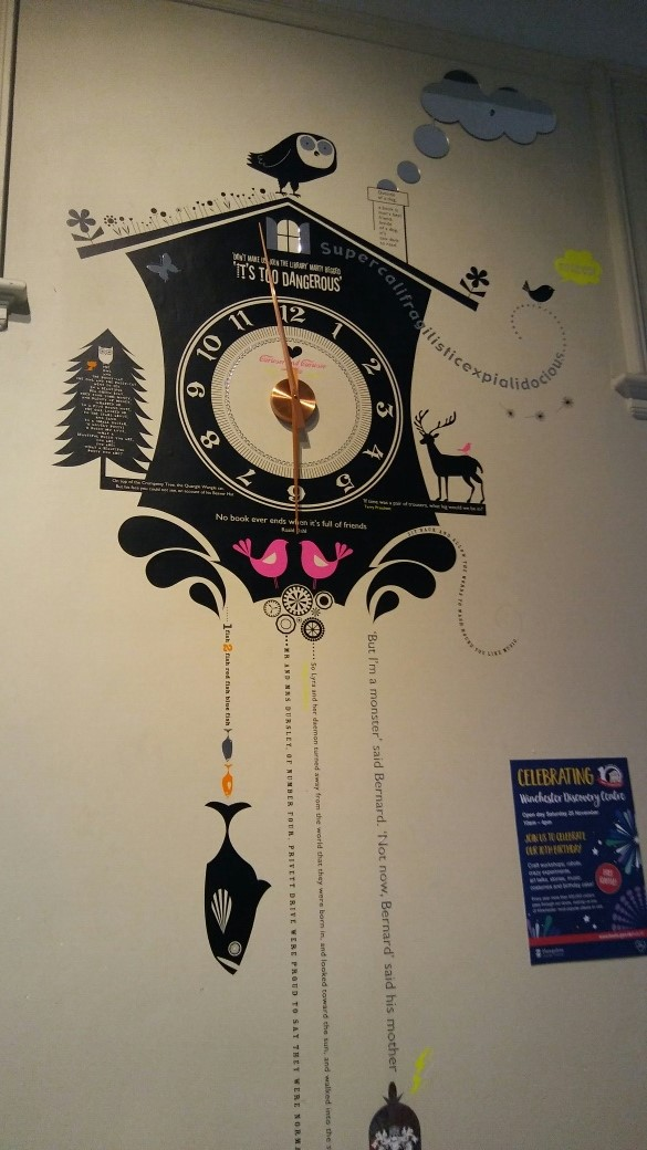 The literary clock in the children's section