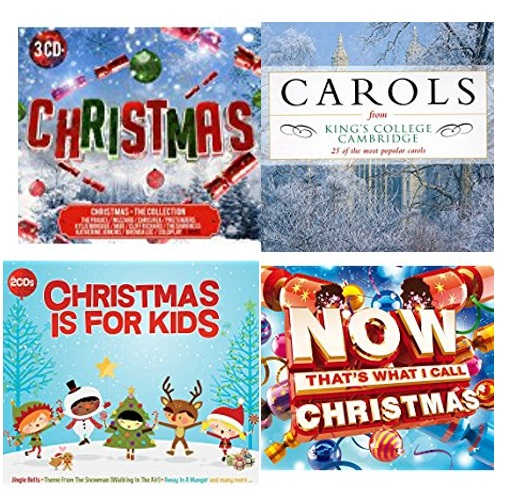 Examples of Christmas music CDs (other CDs are available)