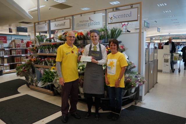 Christmas donations to Marie Curie from Chandler's Ford and Eastleigh