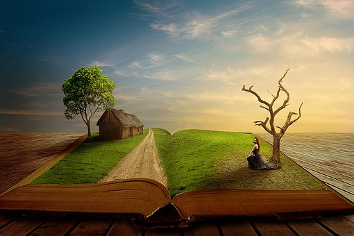 What new scenes will a book show you - image via Pixabay